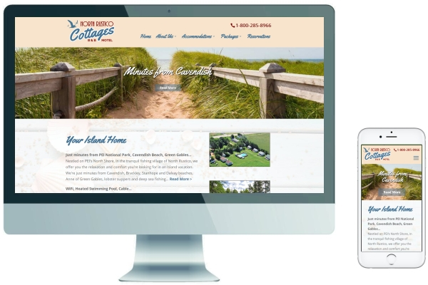 Responsive Website Design - North Rustico Cottages PEI