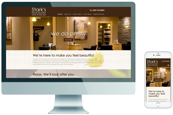 Responsive Website Design - Stark's Head Quarters Salon & Day Spa