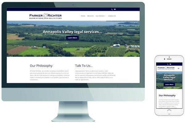 Responsive Website Design - Parker & Richter Law Offices