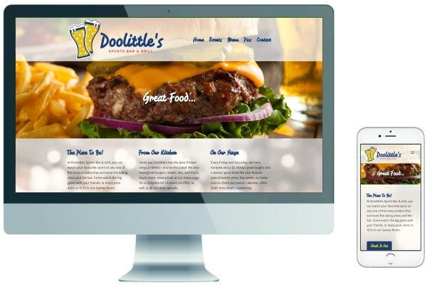 Responsive Website Design - Doolittle's Sports Bar & Grill