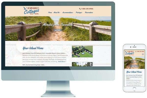 Responsive Website Design - North Rustico Cottages PEI